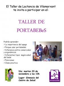 TALLER DE PORTABEBeS