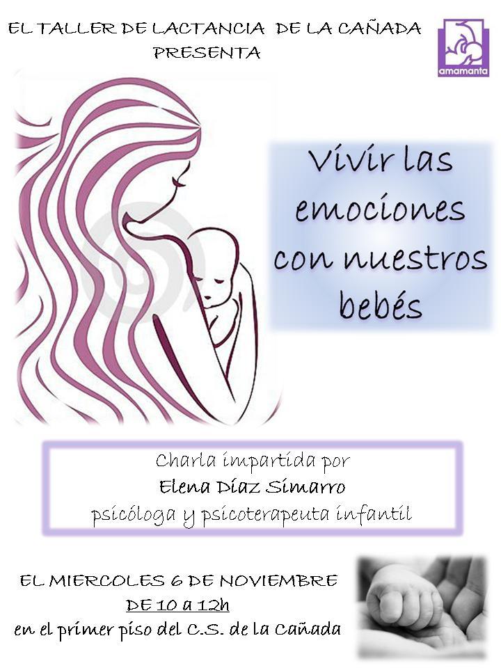 Cartel vivir emociones con bebe