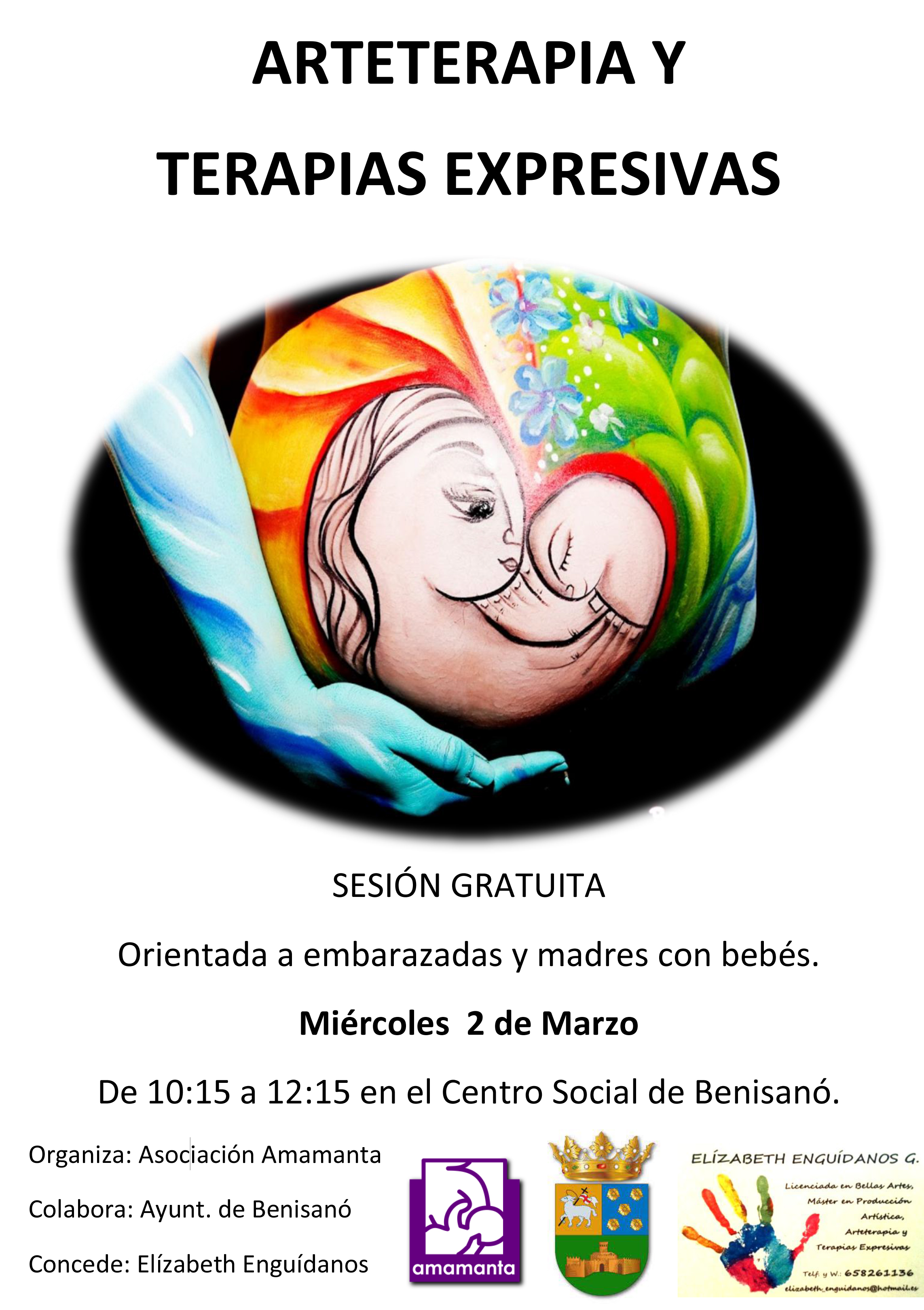CARTEL SESION GRATUITA DE ARTETERAPIA_print